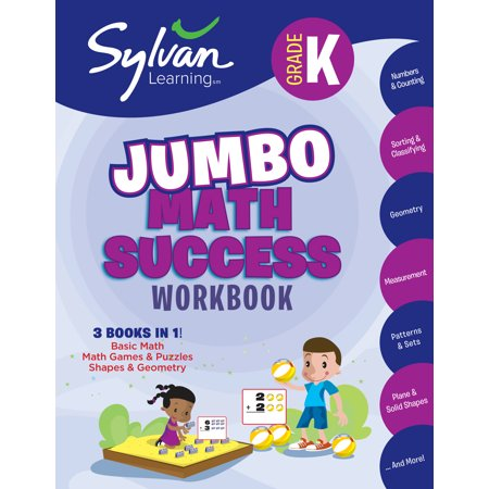 Kindergarten Jumbo Math Success Workbook : Activities, Exercises, and Tips to Help You Catch Up, Keep Up, and Get Ahead