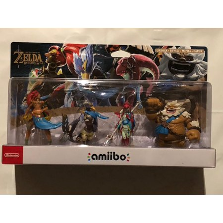 Legend Of Zelda Breath of the Wild Champions Amiibo 4 Pack