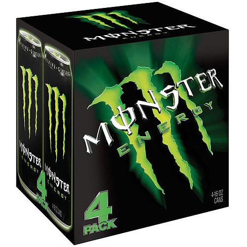 Monster Energy Drink, 16 fl oz, 4 count