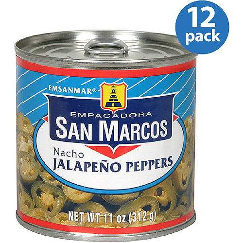 Empacadora San Marcos Nacho Jalapeno Peppers, 11 oz, (Pack of 12)