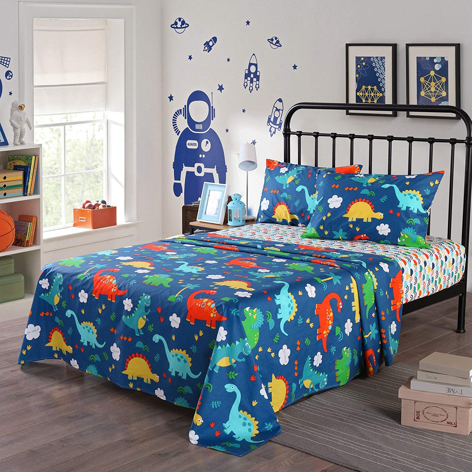 Comforter Bed Set Teen Bedding Modern Teal Black Animal ... |Teen Bedding Sets For Fun
