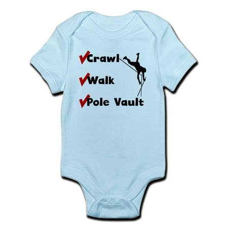 CafePress - Crawl Walk Pole Vault Body Suit - Baby Light Bodysuit - Vault Suit For Sale