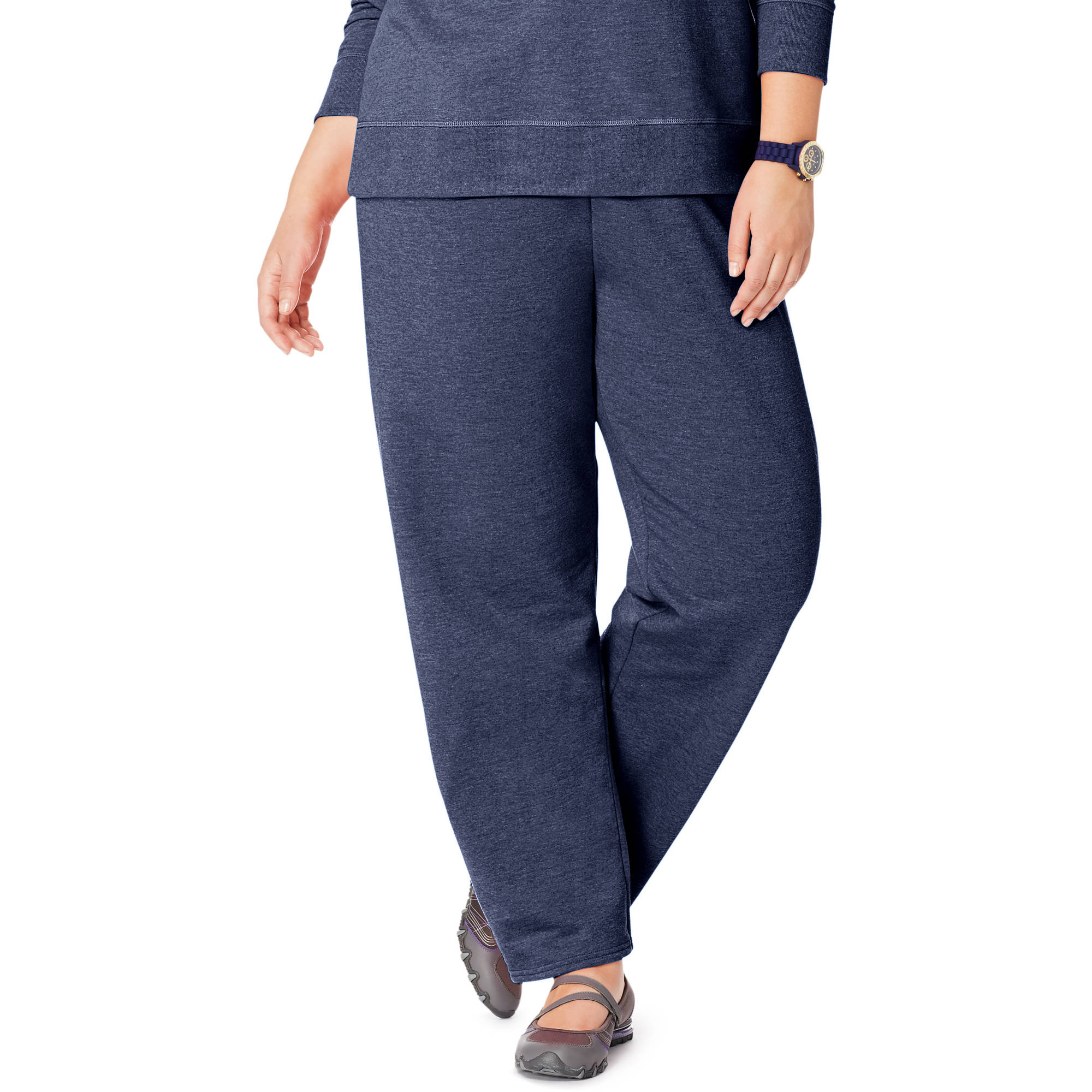 Just My Size Women's Plus Size Fleece Sweatpant, Up to size 5X