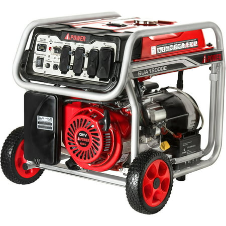 A-iPower SUA12000E Gasoline Powered Generator/Electric Start ()