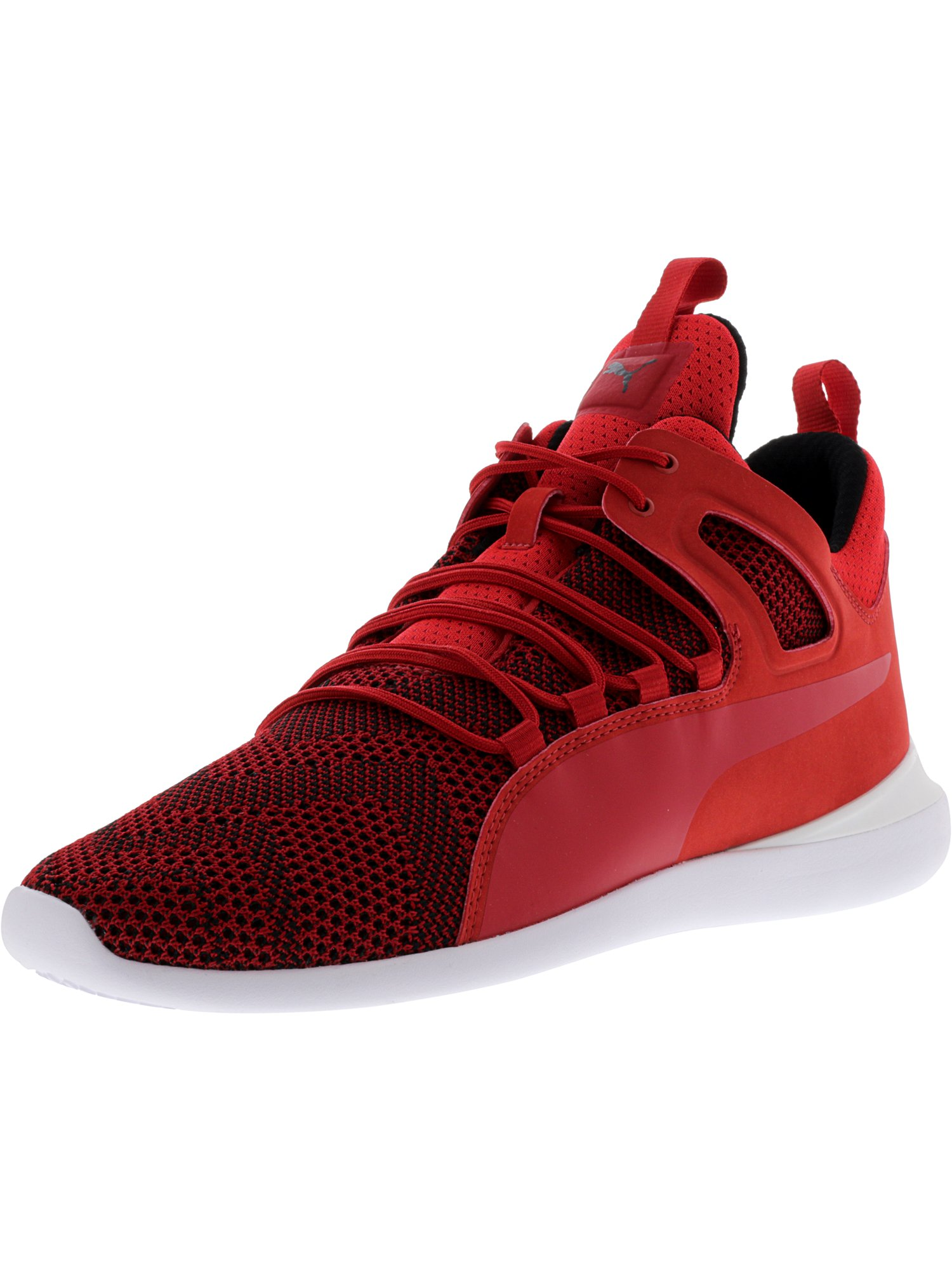 ... get puma mens ferrari evo cat mid rosso corsa white ankle high fashion  sneaker 11m 6151d france ... dfbbbe7c8