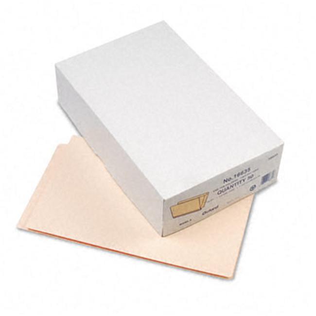 Esselte Pendaflex 16635 Expansion Folders  Straight Cut  End Tab  1 1/2   Expansion  Legal  Manila  50/Bx