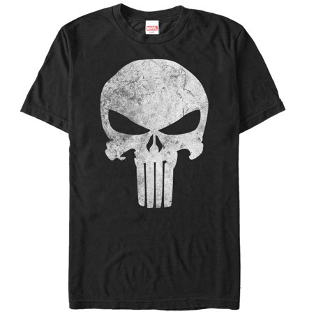 Marvel Men's Punisher Retro Skull Symbol T-Shirt (Punisher Shirt)