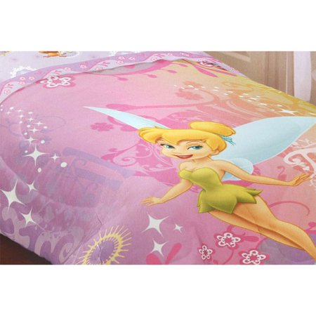 Disney Fairies Tinkerbell Whimsy Twin Bed Comforter Walmart Com