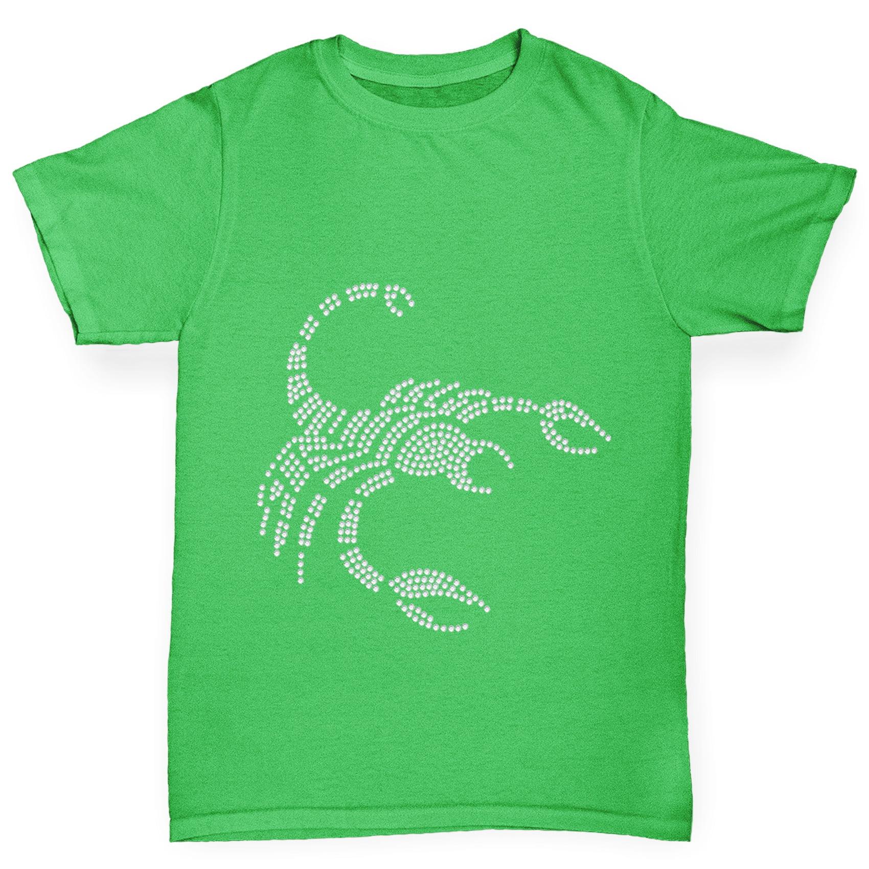 Girl's T-Shirt Scorpio Zodiac Star Sign Rhinestone Bling T Shirts