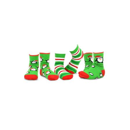TeeHee Christmas Kids Cotton Fun Crew Socks 3-Pair Pack (Cheap Christmas Socks)