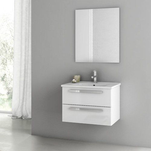 ACF by Nameeks ACF DA01-GW Dadila 24-in. Single Bathroom Vanity Set - Glossy White