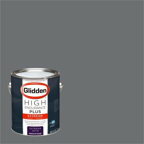 Glidden High Endurance Plus Exterior Paint and Primer, Elegant Charcoal, #00NN 20/000