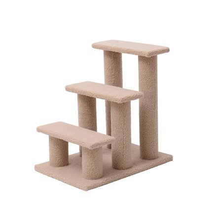 3-Step Scratching Post Cat Climber Kitten Steps Beige -