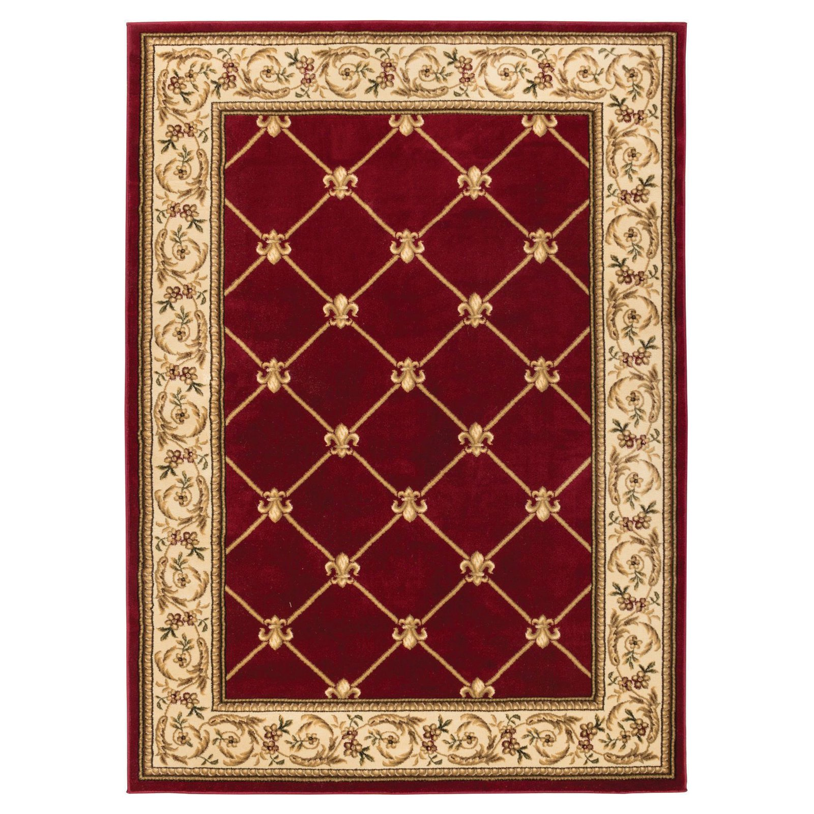 Well Woven Timeless Fleur De Lis Traditional Area Rug 10