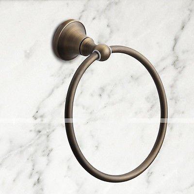 Antique Brass Carved Bathroom Accessories Set Bath Hardware Towel