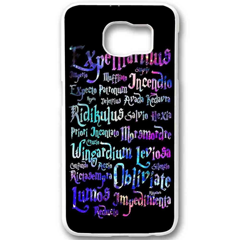 Ganma Black Magic Spells Harry Potter Rainbow Case For Samsung Galaxy Case (Case For Samsung Galaxy S6 edge Black)
