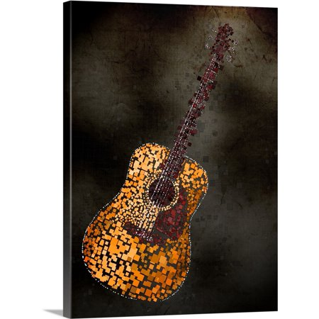 Great BIG Canvas | Michael Tompsett Premium Thick-Wrap Canvas entitled Abstract Squares Guitar