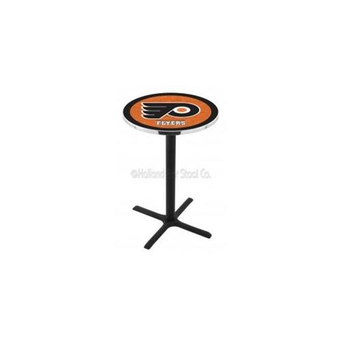 NHL Pub Table by Holland Bar Stool, Black/Orange - Philadelphia Flyers, 36'' - L214