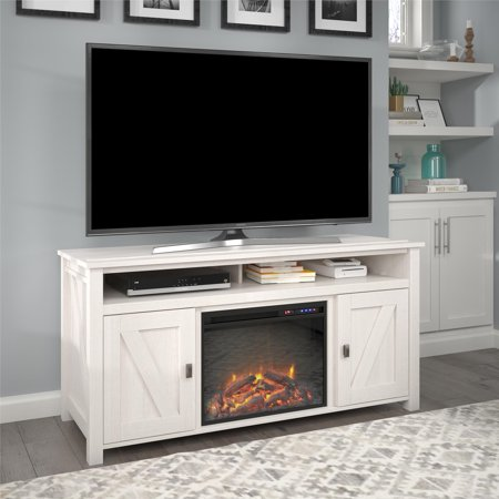 Ameriwood Home Farmington Electric Fireplace Tv Console For Tvs Up