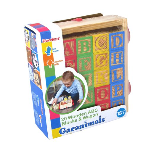 Garanimals Wooden Alphabet Blocks Wagon