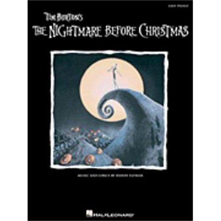 Halloween Piano Sheet Music Nightmare Before Christmas (Hal Leonard The Nightmare Before Christmas (Easy)