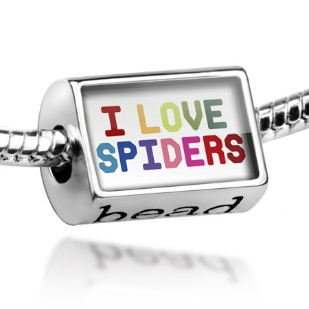 Bead I Love Spiders ,Colorful Charm Fits All European Bracelets](Colorful Spider)