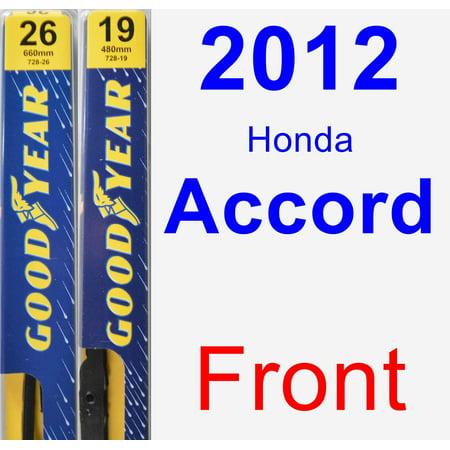 2012 Honda Accord Wiper Blade Set/Kit (Front) (2 Blades) - (Honda Accord Windshield Wiper Blades)