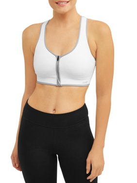 Avia-DTR Women's Seamless Zip Front Sports Bra