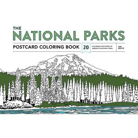 The National Parks Postcard Coloring Book : 20 Colorable Postcards of America's National Parks