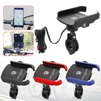 EEEkit 2 in 1 Waterproof Motorcycle Phone Mount with USB Charger, Bike Phone Holder with Quick Charge 3.0 USB Charger, Handlebar Cradle Holder for 3.5'' to 6.5'' Smartphone/GPS/Mobile Devices