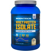 BodyTech Whey Protein Isolate Powder  With 25 Grams of Protein per Serving  BCAA's  Ideal for PostWorkout Muscle Building  Growth, Contains Milk  Soy  Cookies  Cream (3 Pound)