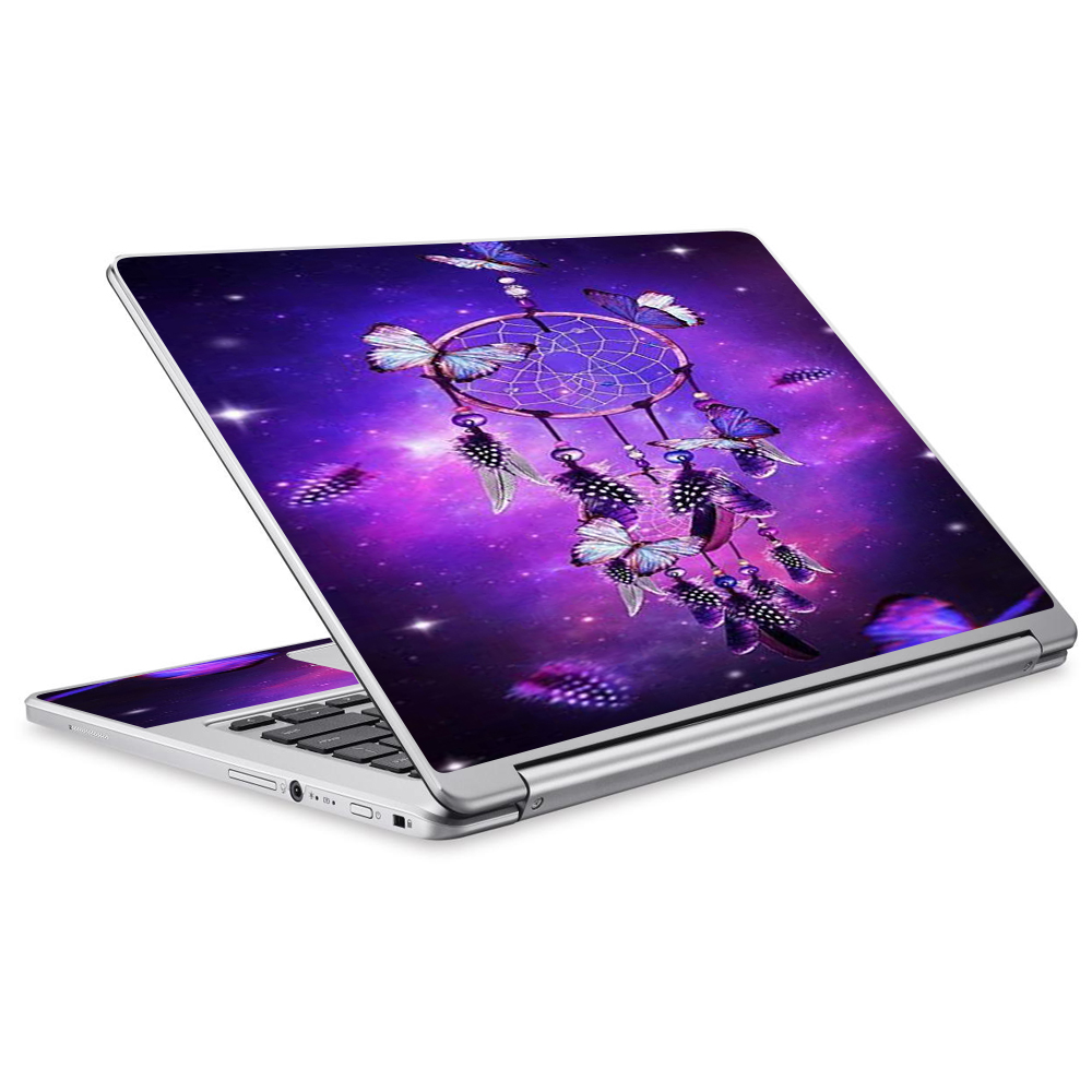 Skins Decals For Acer Chromebook R13 Laptop Vinyl Wrap / Dreamcatcher Butterflies Purple