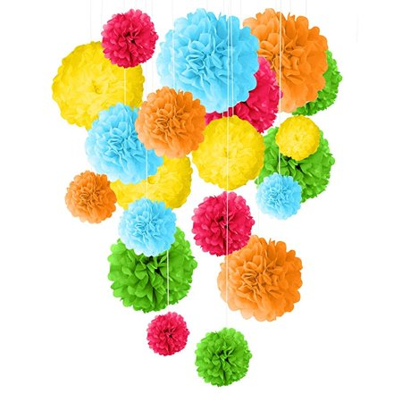 Miraculous Tissue Paper Pom Poms Decorations 20Pcs 14 12 10 8 Mix Home Interior And Landscaping Ologienasavecom