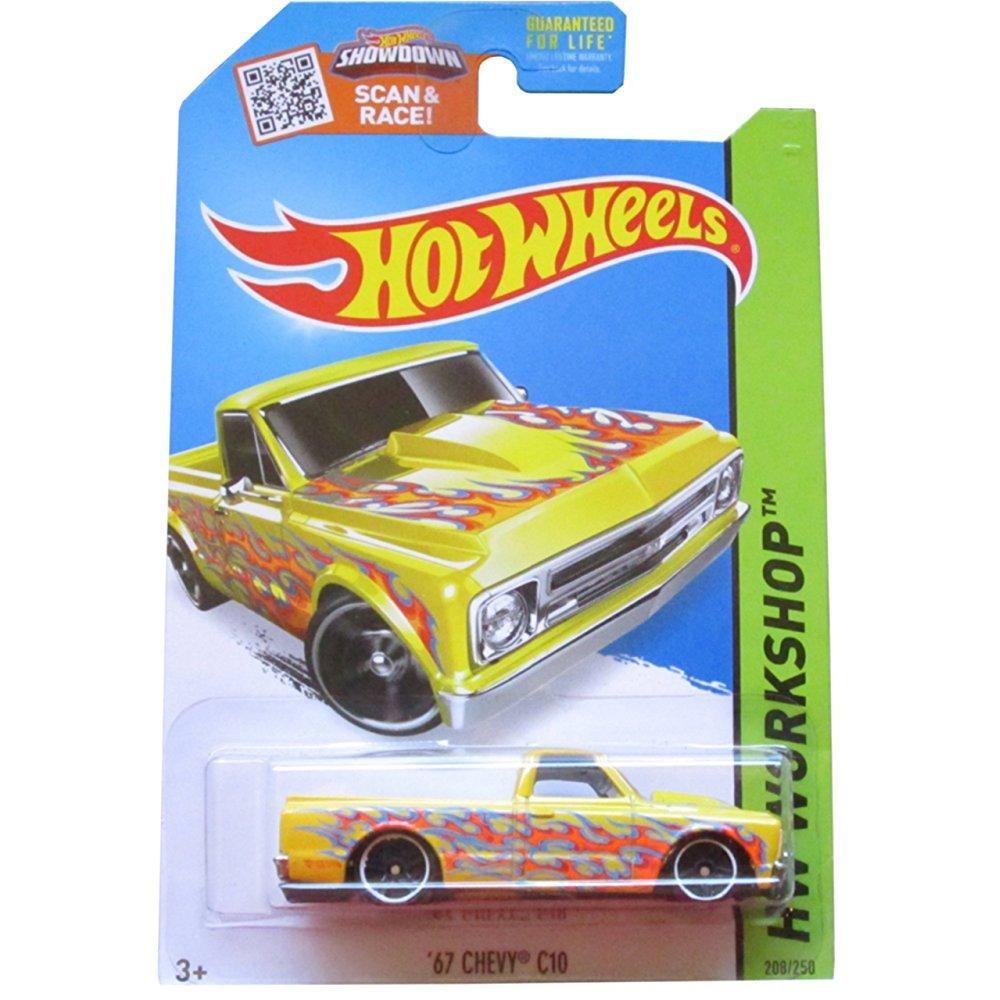 Hot Wheels, 2015 HW Workshop, '67 Chevy C10 Yellow Die-Cast Vehicle 208/250