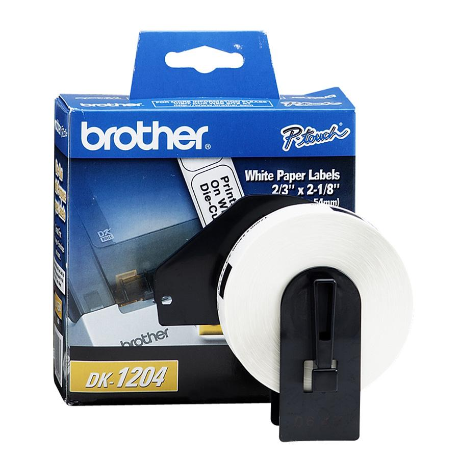 """Brother Die-Cut Multipurpose Labels, 3/4"""" x 2-1/10"""", White, 400/Roll"""