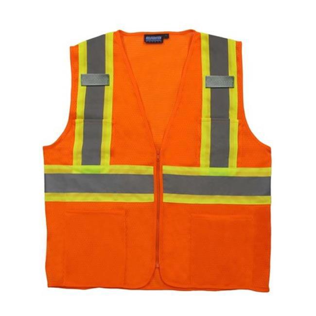Portwest US383 5XL Augusta Sleeved Hi-Visibility Vest, Orange - Regular