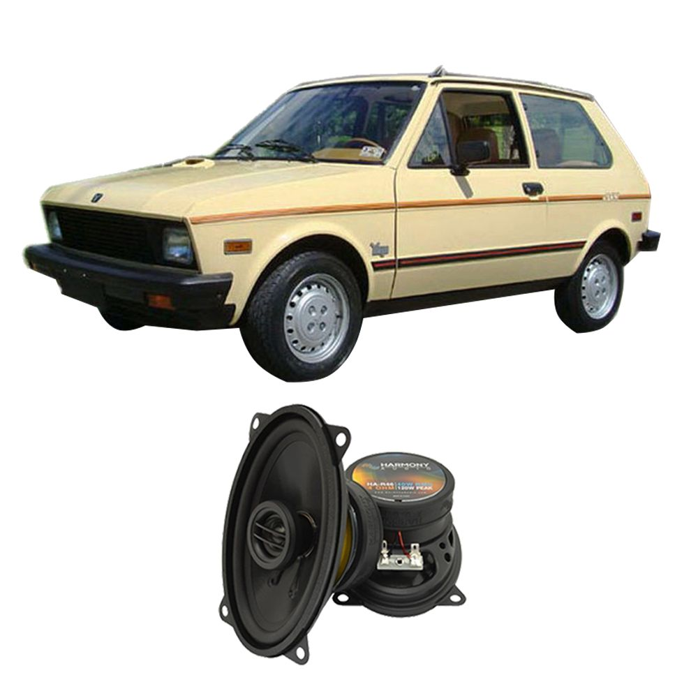 fits yugo gv 1986 1990 rear deck replacement speaker harmony ha r46 rh walmart com Yugo Car Company 1980 Yugo