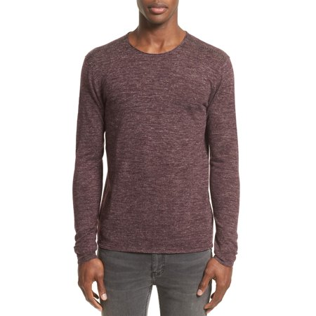 John Varvatos Collection Heathered Crewneck Sweater X-Large Oxblood