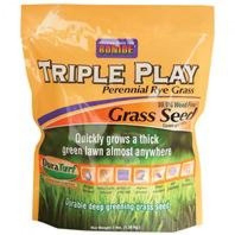 Bonide 60271 Triple Play Rye Grass Seed, 3-Pound
