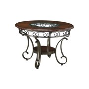 Signature Design By Ashley - Glambrey Round Dining Room Table - Traditional Style - Brown