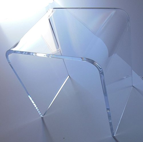 """Acrylic End Table 20.5"""" wide x 16"""" deep x 22"""" high x 3/4"""" thick"""