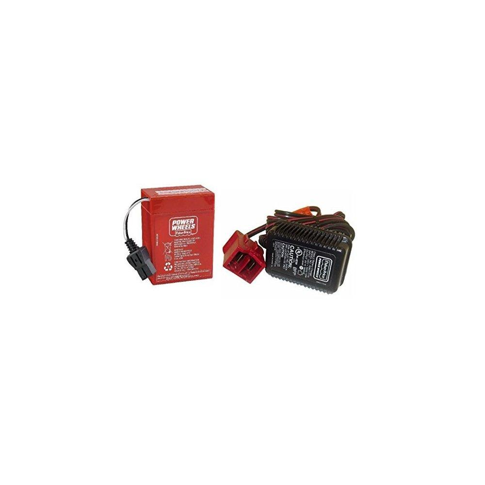 Fisher Price Power Wheels Super 6 Volt Red Battery and Ch...