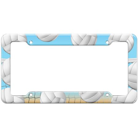 Beach Volleyball Net Court Pattern License Plate Frame - Corporate ...