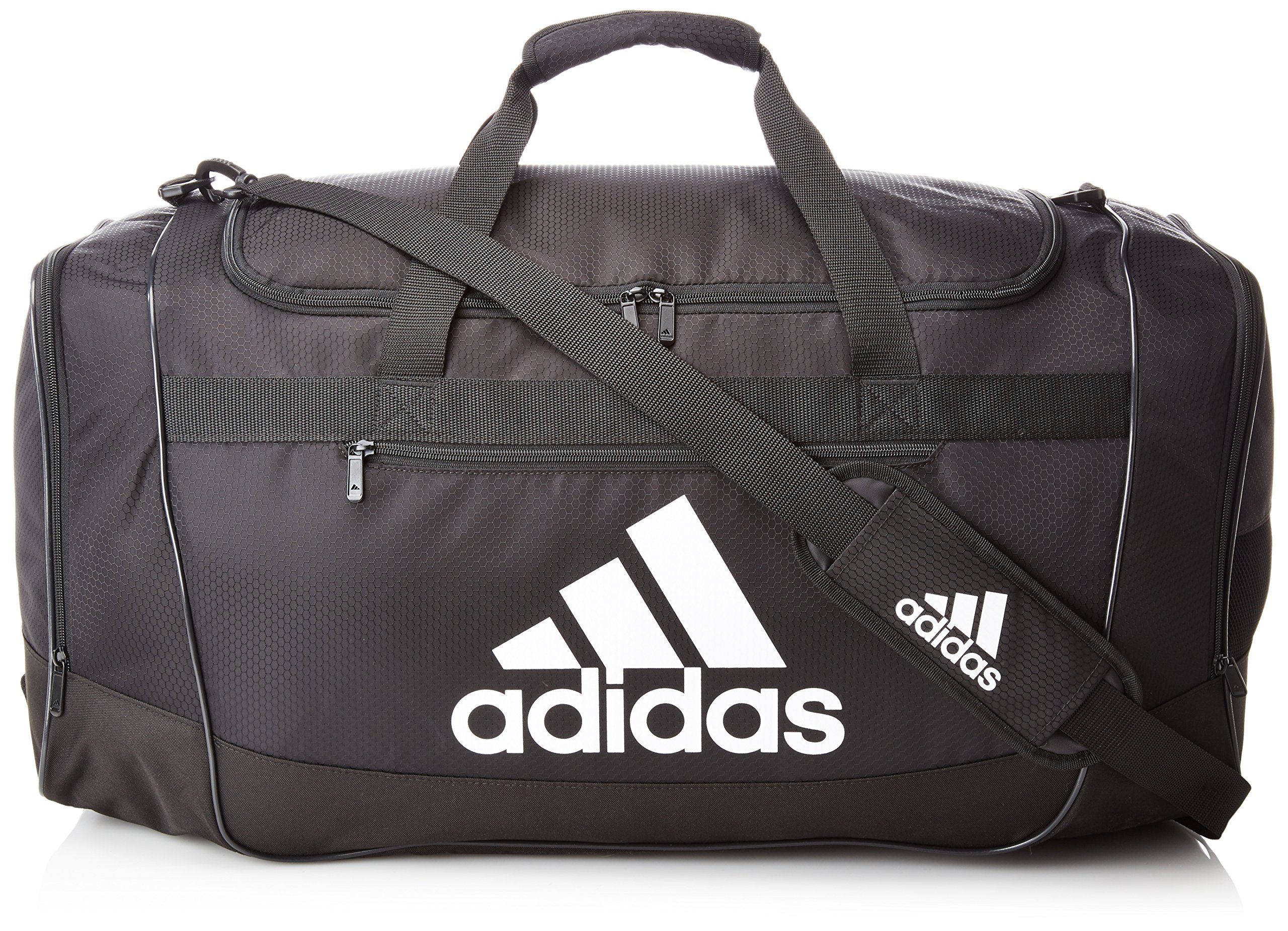 adidas Defender III medium duffel Bag, Onix Jersey/Black, One Size ...