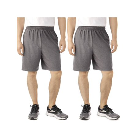 cf9e584259a0 Fruit of the Loom - Fruit Of The Loom (2 Pack) Tagless Mens Shorts With  Pockets 9 Inch Inseam Athletic Cotton Running Shorts - Walmart.com