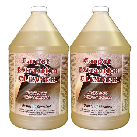 Commercial Carpet Extraction Cleaner and Shampoo - 2 gallon