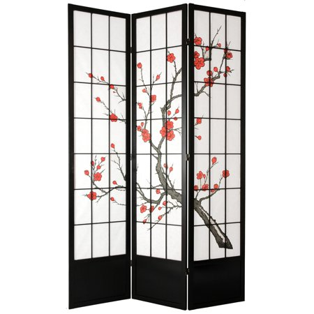 Oriental Furniture Cherry Blossom Inch Shoji Screen Room - Cherry blossom room divider screen