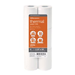 Office Depot® Brand Thermal Paper Rolls, 2 1/4