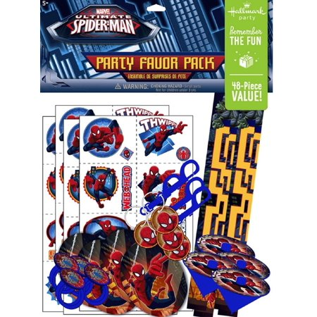Party Favors - Spiderman - Value Pack - 48pc - Spiderman Favors