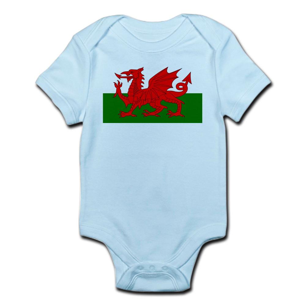 CafePress Flag Of Wales (Welsh Flag) Infant Bodysuit Baby Light Bodysuit